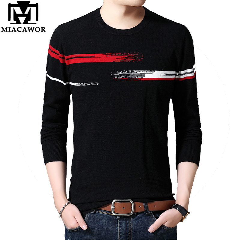 MIACAWOR Wool Sweater Men Fashion Men Sweater Knit Slim Fit Pullover Men Autumn Pull Homme Korean Casual Sueter Masculino Y154