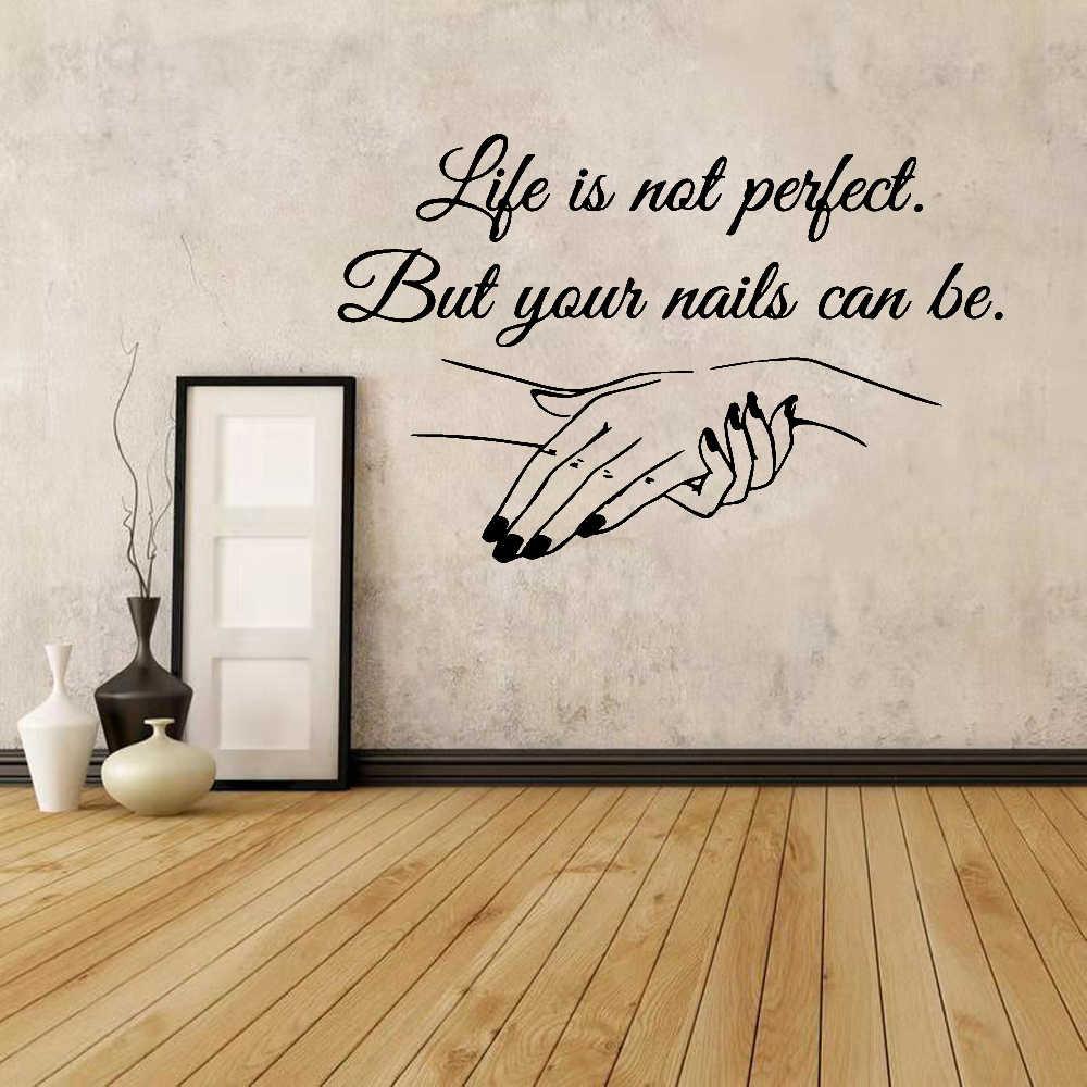 Изысканная Виниловая наклейка для салона маникюра, наклейка на стену с цитатами, художественное настенное украшение для салона красоты, наклейки для женщин, девочек, декор для спальни