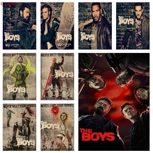 2019 Latest TV Drama The Boys Season 1 Movie Poster Kraft Paper Vintage Retro Bar Bedroom Decor
