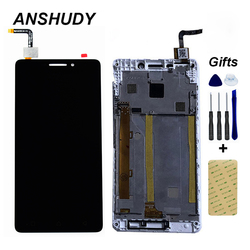 For Lenovo Vibe P1m P1ma40 P1mc50 LCD Display Panel Screen Module + white Touch Screen Digitizer Sensor Glass Assembly + Frame