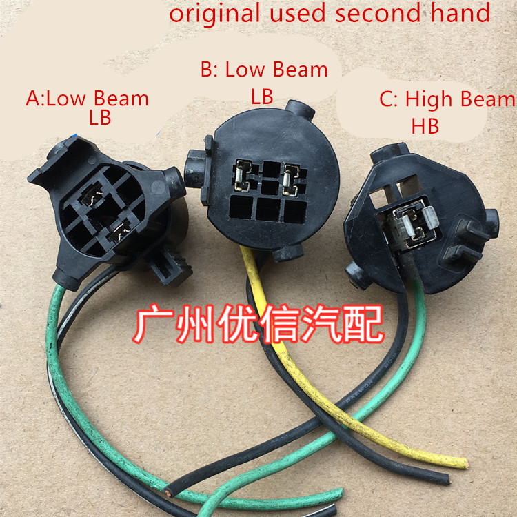 Original Used For Hyundai Sonata 9 Kia K4 K5 H7 Headlight Low Beam H1 High Beam Bulb Lamp Holder Plug
