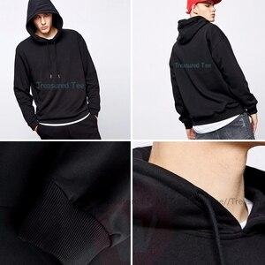 Image 5 - Sudadera con capucha inicial D para hombre, Jersey de algodón Blanco, largo, Otoño, gris