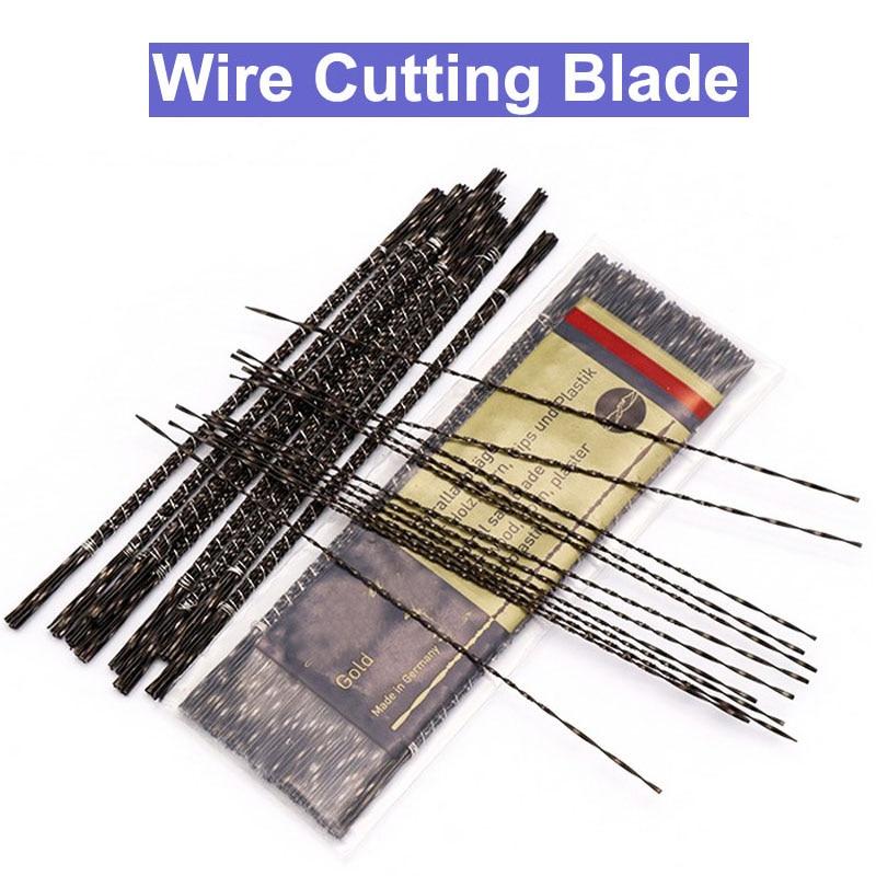 URANN 12pc 130mmMetal Cutting Jig Blades Diamond Wire Saw Blade Cutter Jewelry Scroll Spiral Teeth Woodworking Hand Craft Tools
