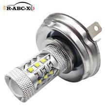 1 Pcs 80W P45T Motorcycle Headlight Led Bulb Motorbike Headlamp 10V-30V 12V 24V White 6000K High Low Beam C'REE 1000LM