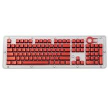 Overgild Keycap zestaw do Cherry klawiatura mechaniczna MX 104 klawisze podwójny zastrzyk kolor metalu klawisze z kluczem narzędzie do usuwania