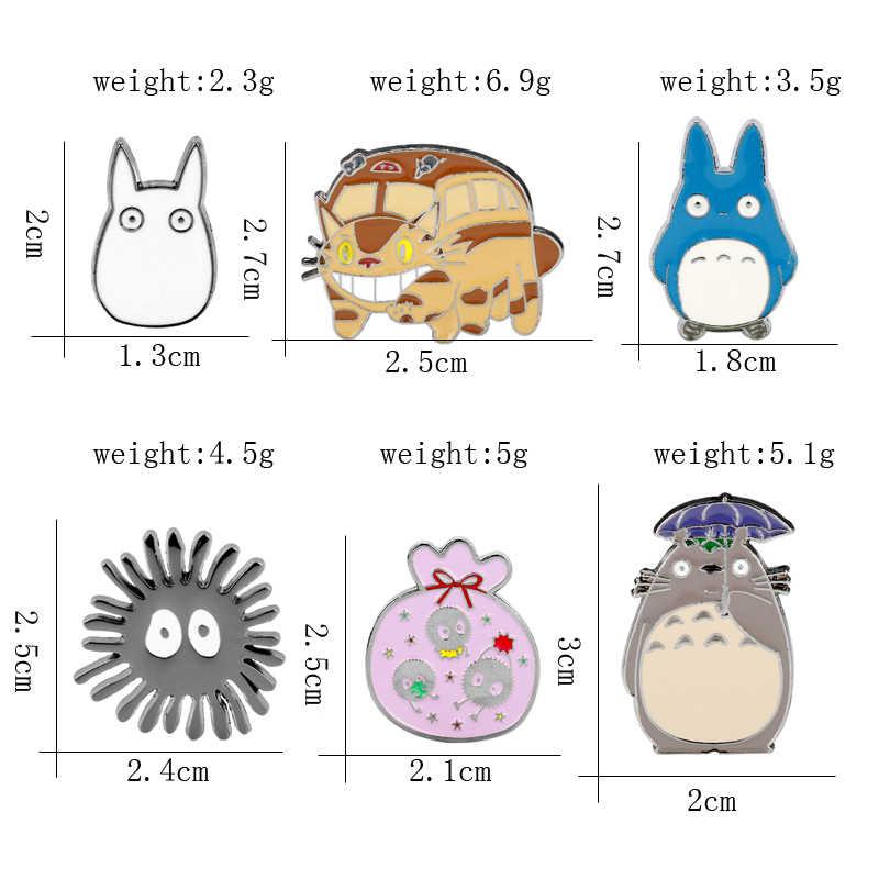 Nhật Bản Miyazaki Hayao Anime Hoạt Hình Dễ Thương Thổ Cẩm Totoro Men Chân & Thổ Cẩm dành cho Nam Nữ Ba Lô Cổ Lưng Phù Hiệu Thổ Cẩm -4