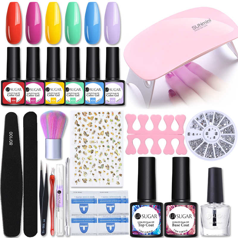 UR Gula Kuku Set 36W UV LED Lampu untuk 8 Buah Gel Nail Polish Set Kit Rendam Off Gel pernis Kuku Seni Dryer Alat Alat Mesin