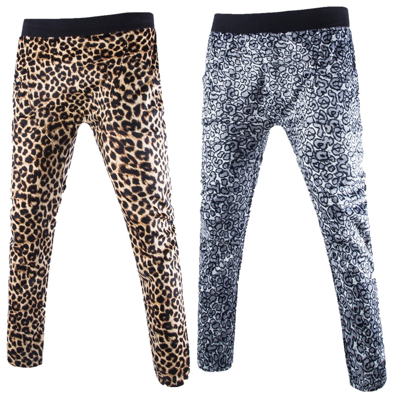 Brand New Men's SportsPants Fashion Leopard Printed Sweat Pants Trendy Casual Trousers Pants Male Spring Autumn