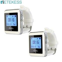 Retekess 2 pçs 433 mhz assista receptor garçom sistema de chamada pager restaurante equipamento sem fio 999 canais f3288b