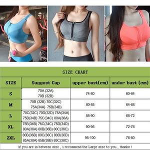 Image 5 - Women Zipper Push Up Sports Bras Breathable Vest Underwear Yoga Running Gyms Sports Tops Front Zip Back Adjustable