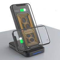 10 w qi carregador sem fio para iphone 11 pro xs max x xr 8 samsung s10 s9 s8 note10 9 rápido carregamento sem fio suporte do carregador