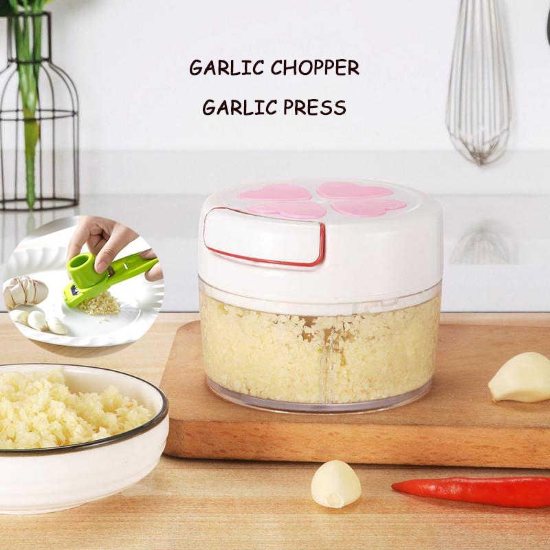 1Pc Manual Bawang Putih Penggiling Bawang Putih Tekan Tangan Tekan Food Chopper Mixer Daging Buah Sayur Kacang Cutter Daging Grinder Dapur alat