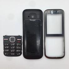 Для C5 C5-00, высокое качество, полный комплект, чехол для мобильного телефона, передняя рамка+ средняя рамка+ английская/Русская/арабская клавиатура