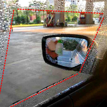רכב גשם סרט מראה אחורית מגן סרט אנטי ערפל קרום נגד בוהק עמיד למים אטים לגשם רכב מראה חלון ברור בטוח יותר