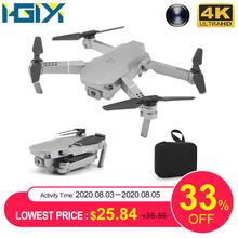 HGIYI M72 składany Dron z kamerą 4K HD Selfie WiFi FPV MIni przepływ optyczny zdalnie sterowany Quadcopter helikopter Dron VS E68 SG107 E58 tanie tanio 1080 p hd video recording Kamera w zestawie Brak 150M Build-in 6 Axis Gyro 4 kanałów 2 4Ghz M72 Drone App kontroler Połączenia wi-fi