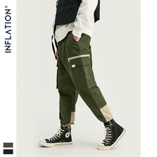 INFLATION Mens Cargo Pants 2019 Japanese Streetwear Sweatpants Male Multi-pocket Joggers Drawstring Trousers 9325S
