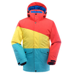 Traje de esquí caliente chaqueta de esquí de los hombres impermeable caliente transpirable Top para esquí
