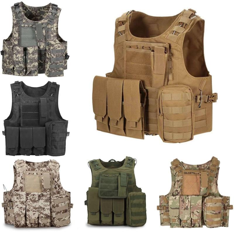 600D Oxford Tactical Vest Mens Military Hunting Vest Field Battle Airsoft Molle Waistcoat Combat Assault Plate Carrier Vest