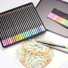 Marco cuadrado negro cuerpo 24 colores estándar no tóxico de Color de la caja de lápiz de dibujo boceto artista estudiantes material escolar