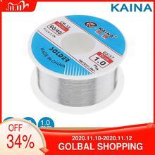 Kaina сварочная проволока 0,5/0,6/0,8/1/1.2/1.5/2 мм припой проволока 100 г 60/40 флюс 2.0% олово для пайки без свинца для алюминия