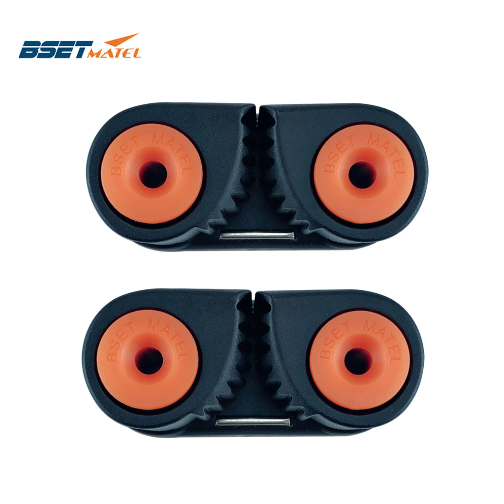 2X Composite 2 Row Matic Ball Bearing Cam Cleat Marine Boat Pilates Equipment Fast Entry Rope Wire Fairlead Sailing Sailboat