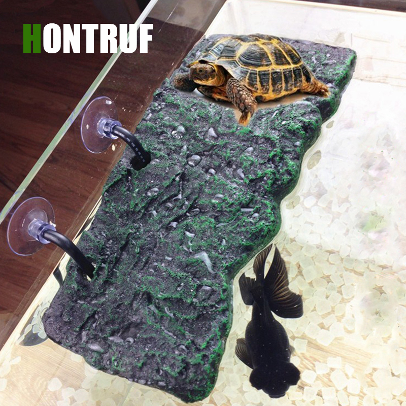 Eco-Friendly Material Multi-size Pet Turtle Drying Platform Automatic Lifting Platform Tortoise Floating Island Crawling Pet Toy