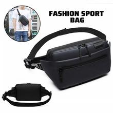 OZUKO Men Waist Bag Fanny Pack Shoulder Belt Bag Male Phone Pouch Bag Waterproof Travel Waist Pack Small Running Sport bag