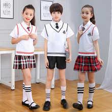 Japanese fashion children's summer school uniforms schoolboy suit boys and girls costumes graduation clothes dance clothes