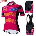 2021 Teleyi женский велосипедный комплект из Джерси, профессиональная команда, гоночная одежда для горного велосипеда, Майо, веломайка, летний к...