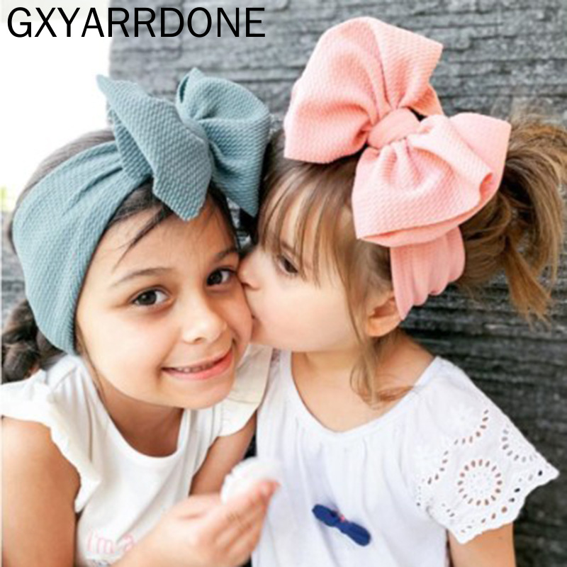 30 Colors Turban Headband Baby Girls Knot Bow Headwrap Newborn Photo Props Girls Headwear Infant Baby Headband Hair Accessories