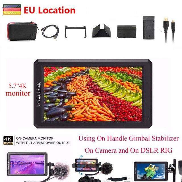 "Feelworld F6 5.7"" IPS Camera Monitor 1920X1080 4K HDMI Monitoring DSLR Monitor for Sony Canon Nikon etc.DSLR/Mirrorless Camera"