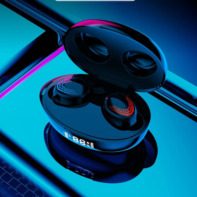 TWS 5.0 Bluetooth Headphones Touch Wireless Earphones 9D HiFi Stereo Headset Sport Waterproof Earbuds LED Dispaly Earphone