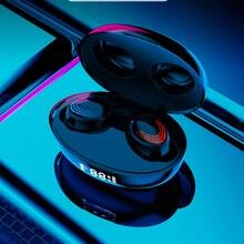 TWS 5.0 słuchawki Bluetooth Touch bezprzewodowe słuchawki 9D radio HiFi słuchawki sportowe wodoodporne słuchawki douszne wyświetlacz LED słuchawki