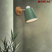 נורדי מודרני סגנון 6 צבע קרון Creative מנורת קיר בר קפה מסעדת בית תאורה