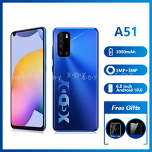 XGODY – téléphone portable A51, Smartphone, 1 go de RAM, 8 go de ROM, écran 6.8 pouces, 3G, Android 10, Quad Core, caméra 5mp, 3000 mAH