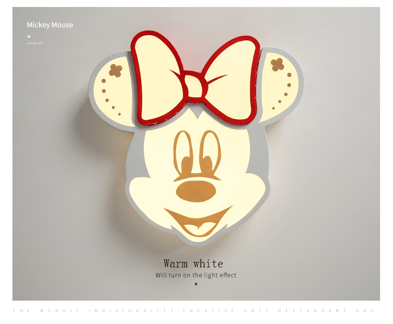 Fashion LED cartoon chandelier, cute child bedroom ceiling lamp, Mickey light kindergarten light  ceiling Lamp bedroom light