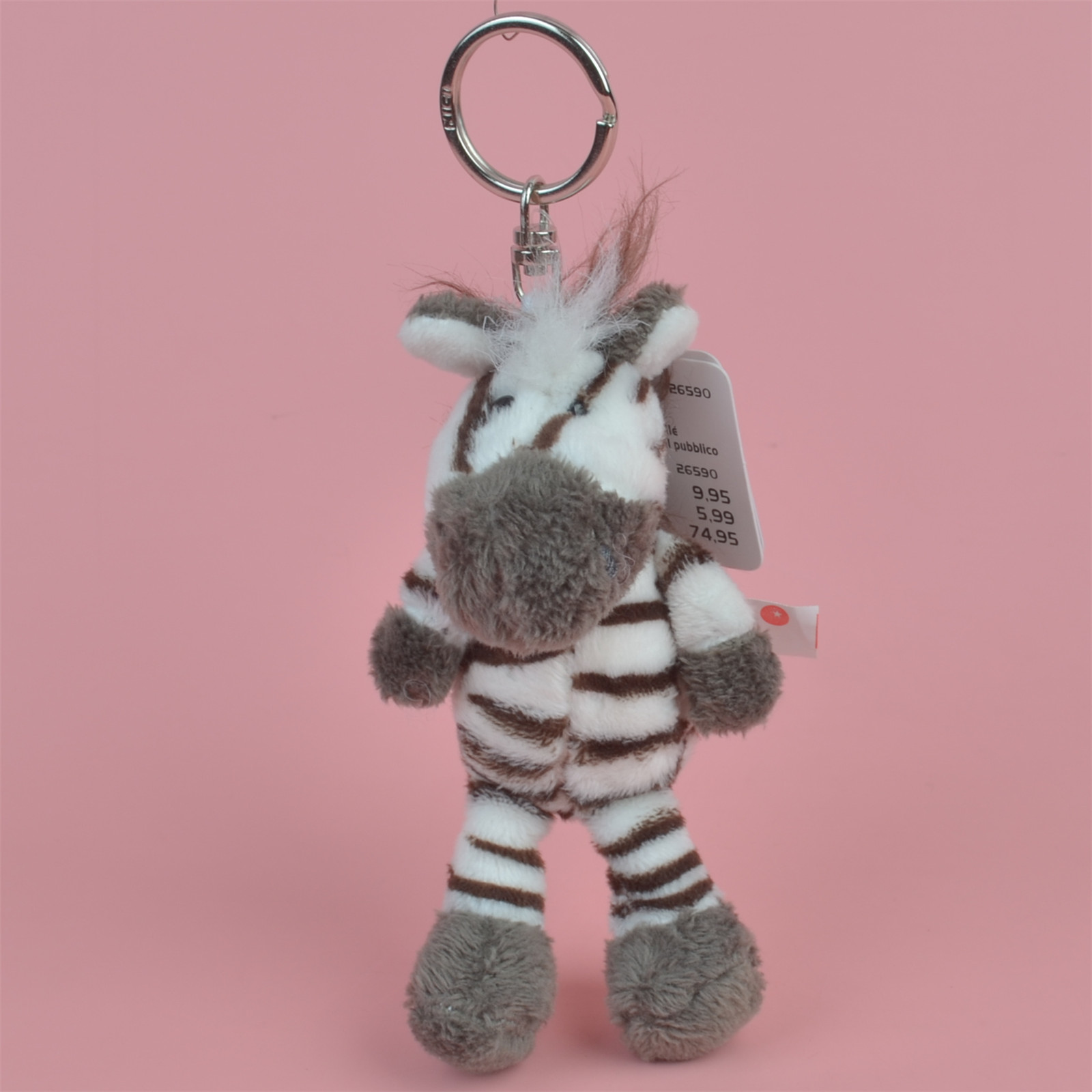 Zebra Animals stuffed Pendant  Keyring Plush Toy, Backpack Decoration  Keychain / Keyholder Gift