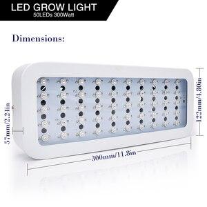Image 5 - 600 واط/300 واط LED تنمو ضوء الطيف الكامل الأحمر + الأزرق + الأبيض + UV + IR AC85 ~ 265 فولت Led مصباح النبات ل حوض السمك غرفة مساعدة لنمو الفطر البستنة