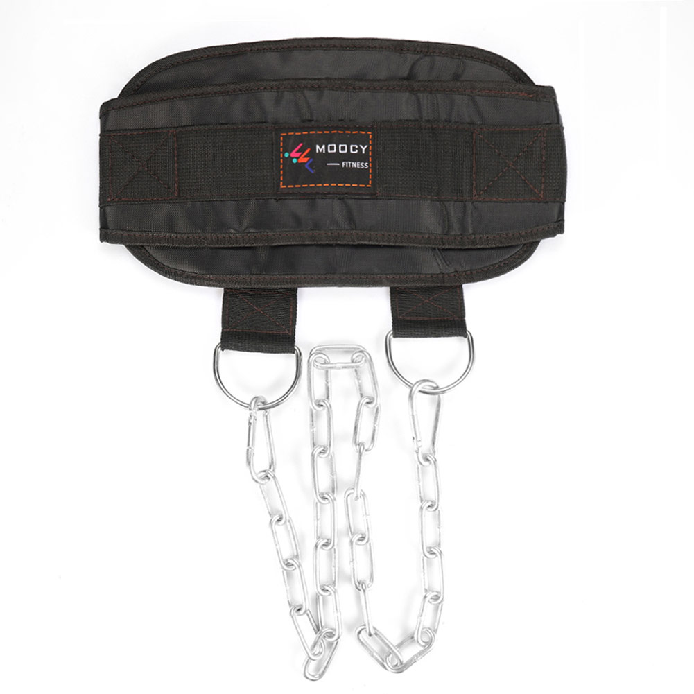 Thick Belt Weight Lifting Belt With Chain For Pull Up Chin Up Kettlebell Barbell Fitness Bodybuilding Gym Belt