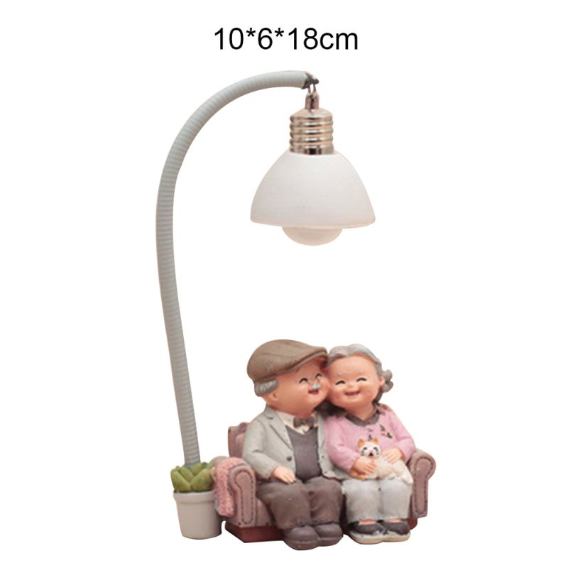 Old Couple  Home Decorations Small Ornaments Grandparents Old Lady Old Characters Crafts Creative Birthday Gifts|Figurines & Miniatures| |  -