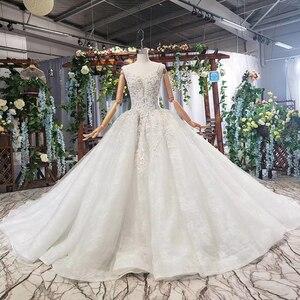 Image 4 - HTL578 detachable mantle wedding dresses big v neck spaghetti straps lace up back summer bridal gowns robe de mariee boheme