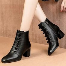 2019 New Combat Military Boots Women's Motorcycle Gothic Punk Combat lovers Boots Female Shoes Size botas de mujer#A1(China)
