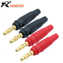 Pin Connectors Banana-Plugs Wholesales Cable-Wire Audio-Speaker 10pcs/Lot Gold-Plated