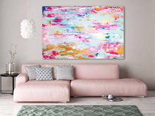 Handmade thick knife abstract high quality oil painting Pink Gold Gold dream abstract on Canvas Painting Decor Oil Painting art abstract colorful texture oil painting on canvas 100