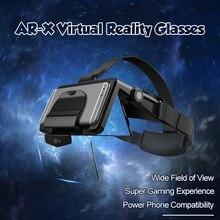 FIIT AR X AR 스마트 안경 향상된 3D VR 안경 박스 헤드폰 가상 현실 헬멧 VR 헤드셋 4.7 6.3 인치 스마트 폰용