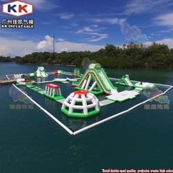 Unterhaltung Aqua Riesigen Aufblasbaren Wasser Park Hindernis Natürlich Große Wasser Schlauchboote