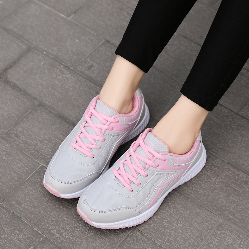2020 Women Sneakers Breathable Non-slip Outdoor Sports Shoes High Quality Casual Walking Shoes Ladies Jogging Platform Sneakers