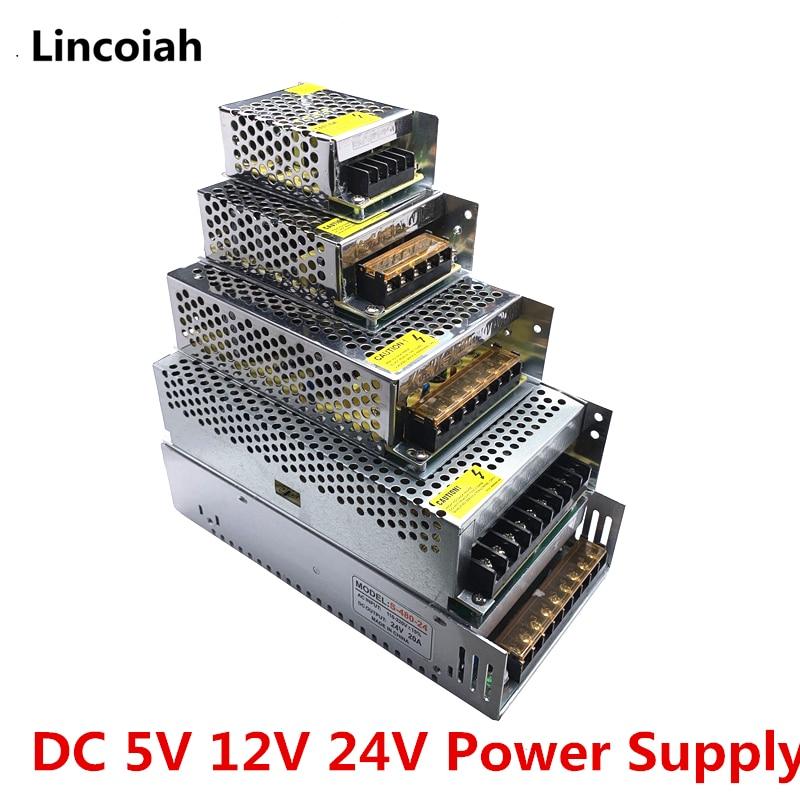 Lighting Transformer DC 5V 12V 24V Switch Power Supply Adapter 1A 2A 3A 5A 6A 8A 10A 15A 20A 30A 40A 50A SMPS For LED Strip CCTV