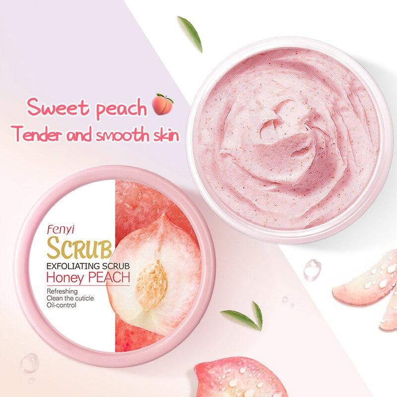 LAIKOU Peach Body Scrub Cream Face Scrub Deep Cleansing Skin Whitening Go Cutin Dead Skin Treatment Acne Moisturizing Body Care