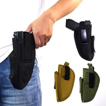 Right Left Hand Gun Holster Concealed Airsoft Pistol Holster for Glock Colt1911 Beretta M9 P226 Pistol Gun Case Magazine Bag 2
